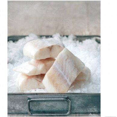 Atlantinės menkės filė porcijos, FishWish apie 500 gr.