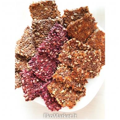 Brandintų linų sėmenų duonelės su burokėliais, Smilgių ūkis, 100 gr.