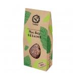 Ekologiški daigintų grikių mini batonėliai su sezamu, 150 gr.