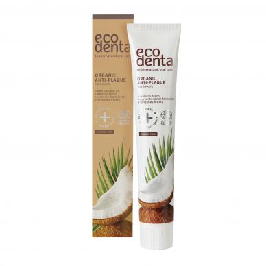 Ekologiška dantų pasta su kokosų aliejumi, ECODENTA 75 ml.