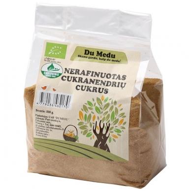 Ekologiškas nerafinuotas cukranendrių cukrus, Du Medu 500 gr.