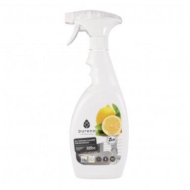 Ekologiškas PURENN citrinų ir šermukšnių vonios valiklis, 500 ml.*