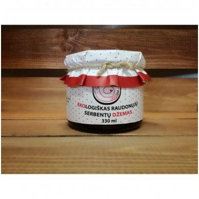 Ekologiškas raudonųjų serbentų džemas, Genutės Uogainė 330 ml.