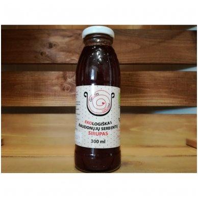 Ekologiškas raudonųjų serbentų sirupas, Genutės Uogainė 300 ml.