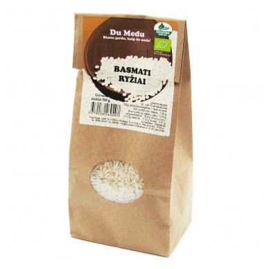 Ekologiški baltieji Basmati ryžiai, Du Medu 500 gr.
