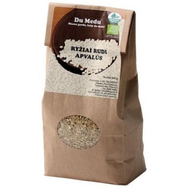 Ekologiški rudi apvalūs ryžiai, Du Medu 500 gr.