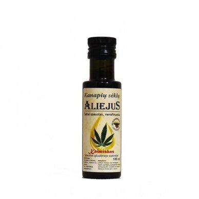 Kanapių sėklų aliejus, Katinų ūkis 100 ml.