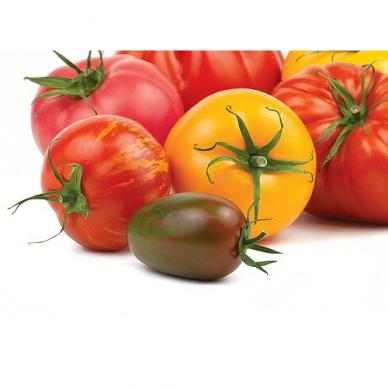 Lietuviški SPALVOTI pomidorai, 1 kg.