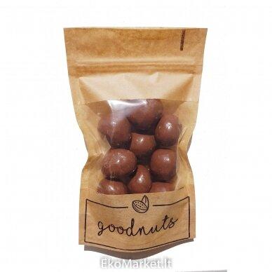 Liofilizuotos braškės su pienišku šokoladu, GoodNuts 125 gr.