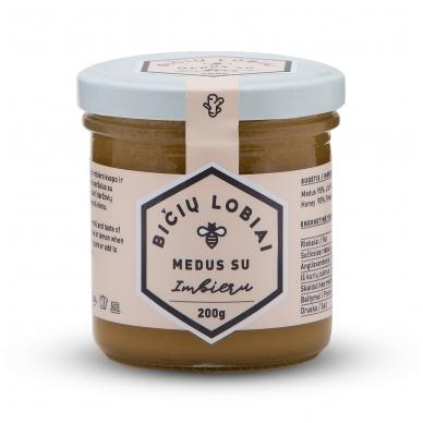 Medus su imbieru, Bičių lobiai, 200 gr.