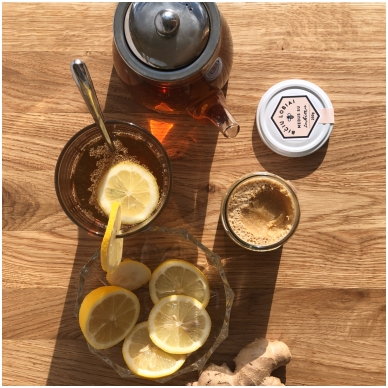 Medus su imbieru, Bičių lobiai, 200 gr. 3