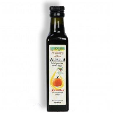 Moliūgų sėklų aliejus, Katinų ūkis 250 ml.