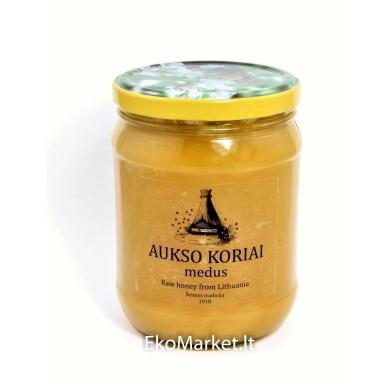 Natūralus medus, ŠVIEŽIAS vasaros žiedų 700 gr.
