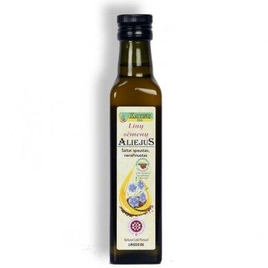 Linų sėmenų aliejus, Katinų ūkis 250 ml.
