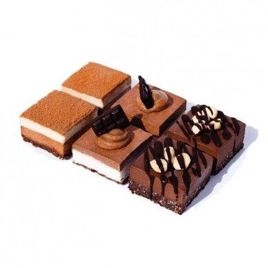 Šokoladinis desertų rinkinys (šaldytas), Gėrybė 330 gr.