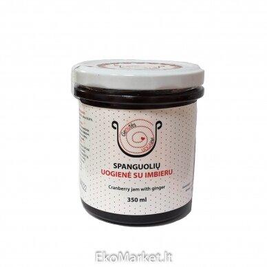 Spanguolių uogienė su imbieru, Genutės uogainė 350 ml.