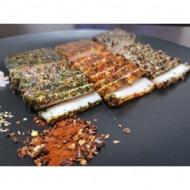 Sūdyti lašiniai Gurmanams su paprika, Gardulis apie 300 gr. 2