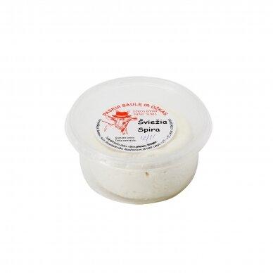 """Ožkos pieno sūris šviežia """"Spira"""", R. Ilinauskaitės ūkis 180 g."""