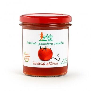 Švelniai aštrus naminis pomidorų padažas, Agilės ūkis 320 gr.