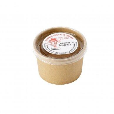 Šviežias tepamas ožkos pieno sūris su žolelėmis, R. Ilinauskaitės ūkis 250 gr.